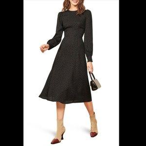 Reformation midi dress size 0
